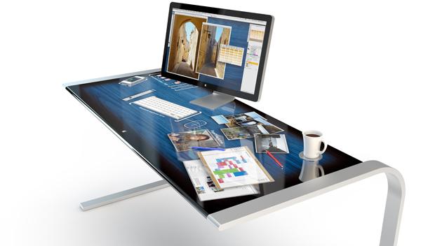 Schreibtisch design apple  Design-Konzept: Apple-like Schreibtisch | iTopnews