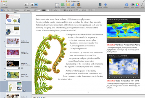 iBooks Author 1.1 Screenshot