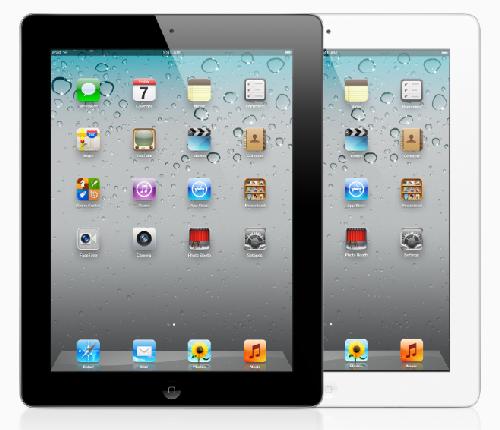 iPad 2 Ansicht schwarz und weiss