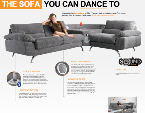 abgedreht das sofa mit integriertem iphone dock itopnews. Black Bedroom Furniture Sets. Home Design Ideas
