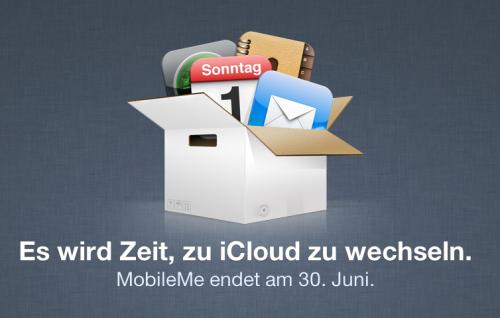MobileMe Abschaltung