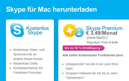 Skype fuer Mac