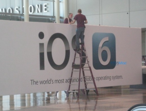 iOS 6 im Moscone Center Foto von 9to5mac