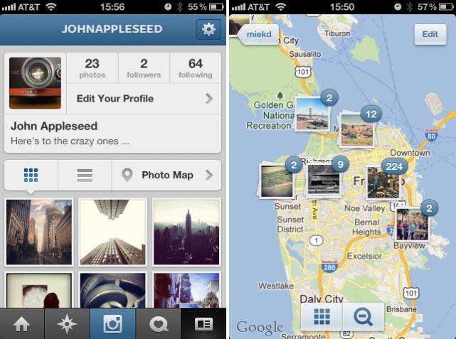 instagram 3 0 ist da neues profil neue photo map itopnews. Black Bedroom Furniture Sets. Home Design Ideas