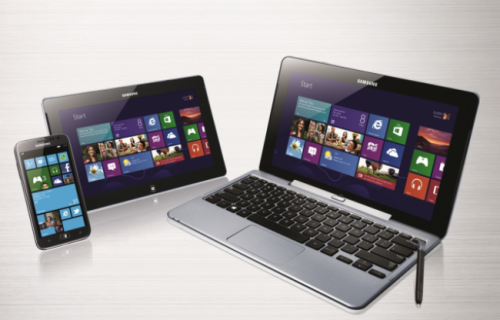 Samsung Lineup mit Windows 8