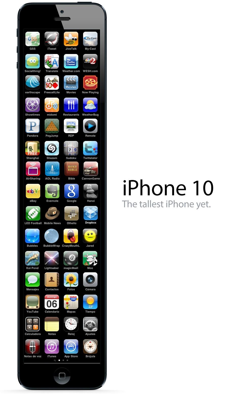 Folgt Apple Seinem Trend Mit Dem Grosseren Display Welches Ausschliesslich In Der Lange Nicht Aber Breite Wachst Dann Konnen Wir Das IPhone 10 Bzw