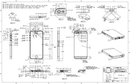 iphone 5 apple ver ffentlicht technische zeichnung itopnews. Black Bedroom Furniture Sets. Home Design Ideas