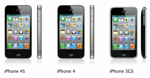 iPhone Lineup iPhone 3GS iPhone 4 iPhone 4S