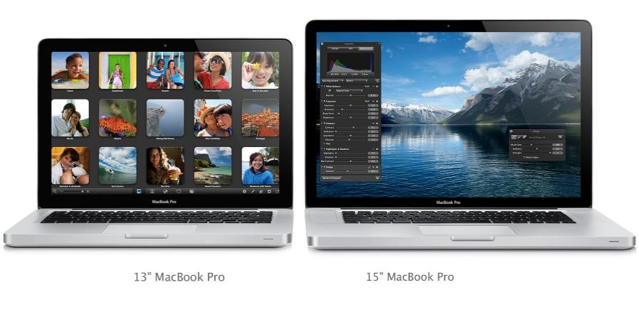 Retina MacBook Pro beide Groessen