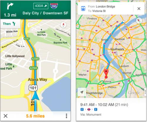 Google Maps Ansicht 2012