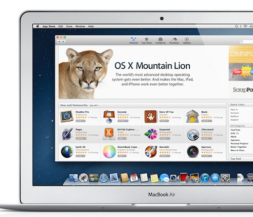 Mountain Lion im Mac App Store