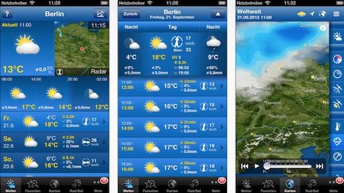 WeatherPro iPhone Ansicht neu
