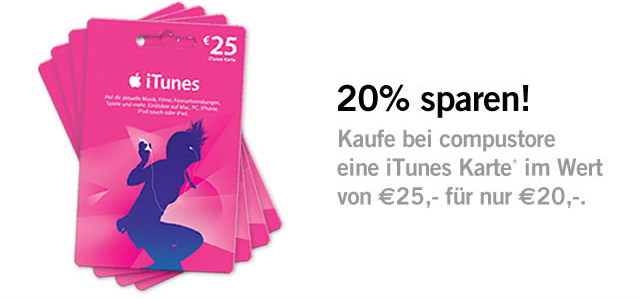 itunes karten g nstiger neues rabatt angebot itopnews. Black Bedroom Furniture Sets. Home Design Ideas
