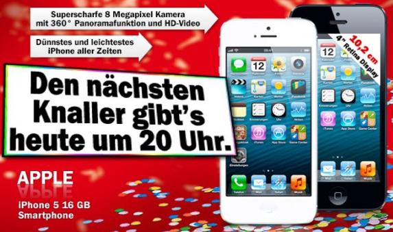 Um 20 Uhr Iphone 5 Im Blitz Angebot Bei Media Markt