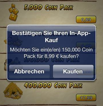 In App Kauf Temple Run 2