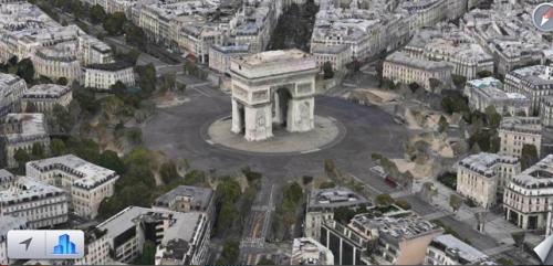 Apple Karten Arc de Triomphe