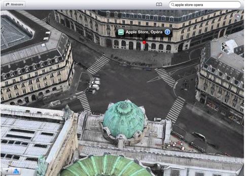 Apple Maps Flyover Apple Store Paris