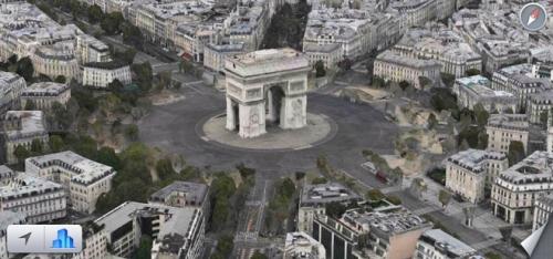 Apple Maps Flyover Arc de Triomphe