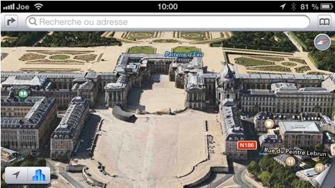 Apple Maps Flyover Versailles