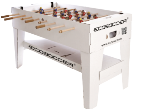 ecosoccer federleichter tisch kicker mit iphone slot. Black Bedroom Furniture Sets. Home Design Ideas