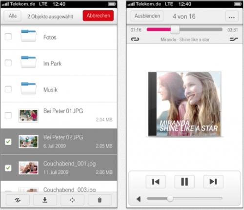 mediencenter telekom app mit 25 gb gratis speicher itopnews. Black Bedroom Furniture Sets. Home Design Ideas