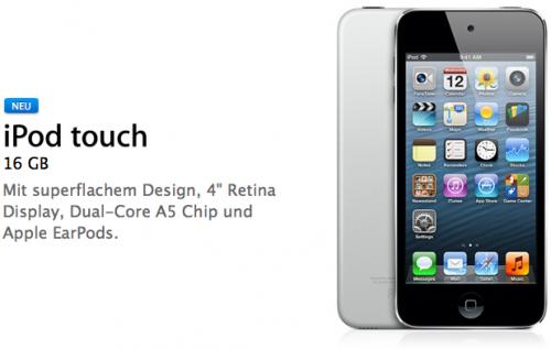 Neuer iPod touch 16 GB
