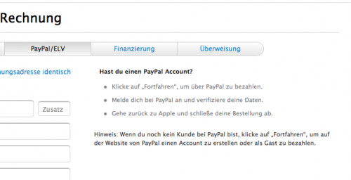 apple online store jetzt auch mit paypal zahlen itopnews. Black Bedroom Furniture Sets. Home Design Ideas