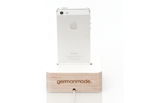 germanmade iPhone 5 Dock weiss hinten