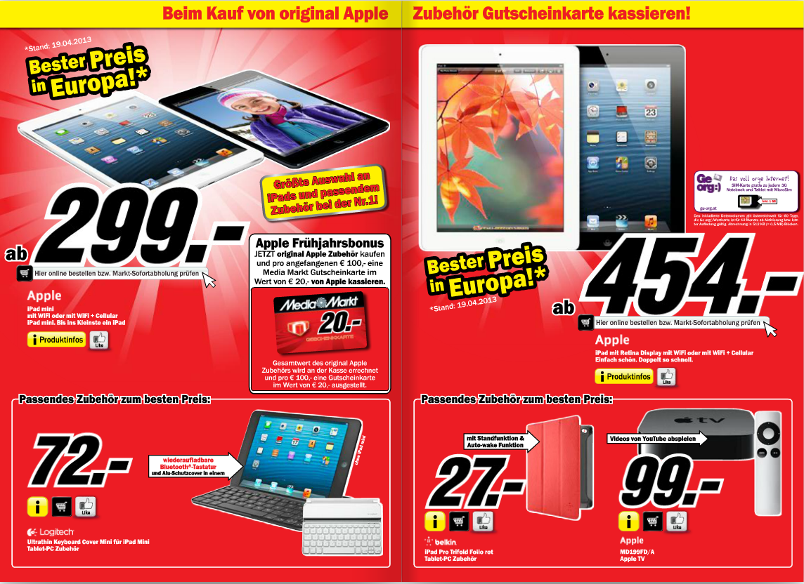 media markt in sterreich sale bei ipads apple tv itopnews. Black Bedroom Furniture Sets. Home Design Ideas
