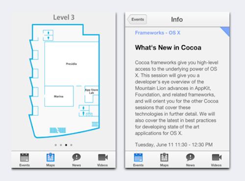 WWDC App Apple Ansicht