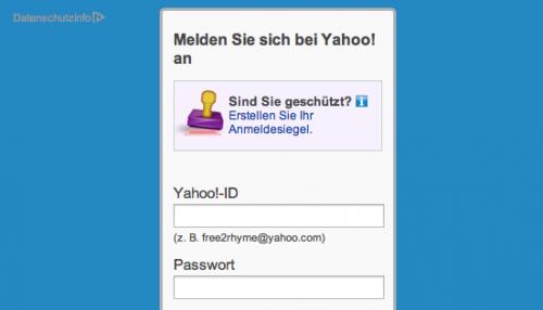 Yahoo Webmail Ansicht