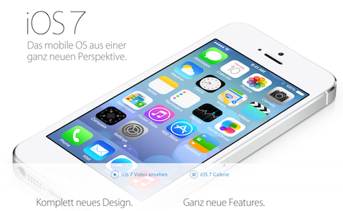 iOS 7 Apple deutsche Website