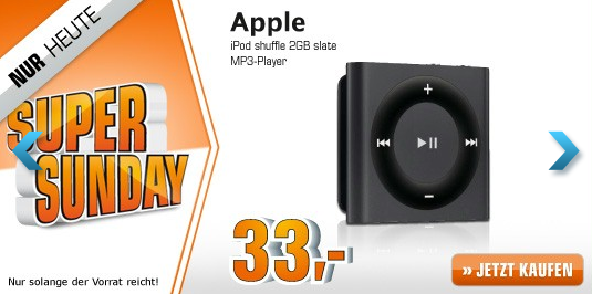 ipod shuffle bei saturn im angebot 30 sparen itopnews. Black Bedroom Furniture Sets. Home Design Ideas