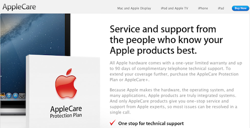 AppleCare US Site