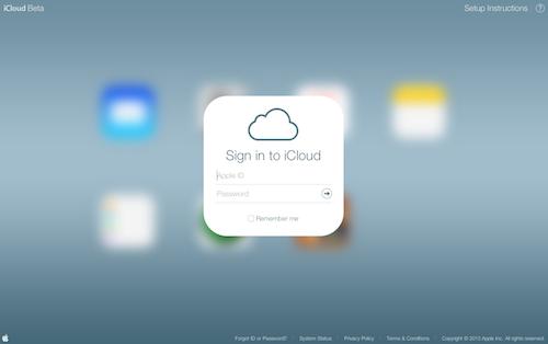 Beta Website iCloud