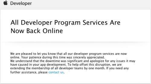 Dev Center komplett on