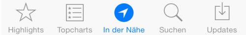 In der Naehe iOS 7 Ansicht