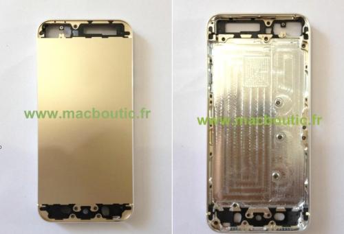MacBoutic iPhone 5S Gold zwei Ansichten