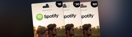 Spotify Gutscheinkarten