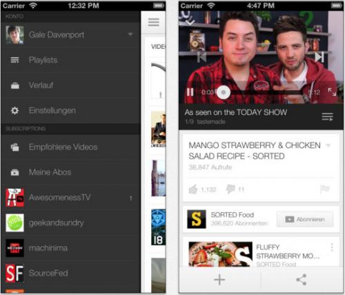 YouTube Ansicht