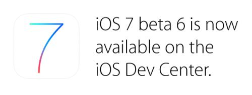 iOS 7 Beta 6 da