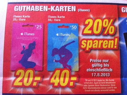 iTunes Karten Rabatt Expert Bayreuth Patrick G
