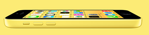 iPhone 5C in gelb