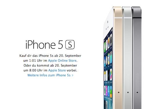 Verkaufsstart iPhone 5S