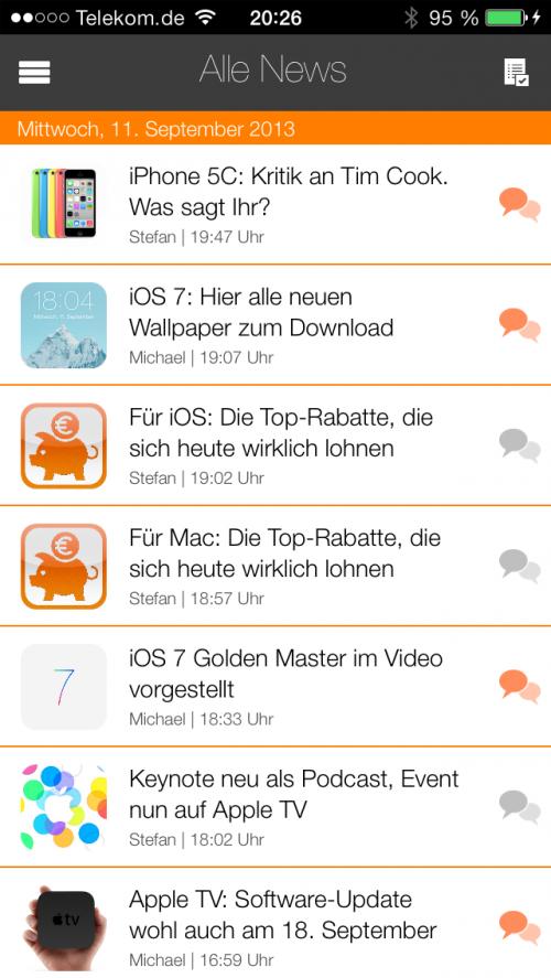 App 3.2 Artikelübersicht