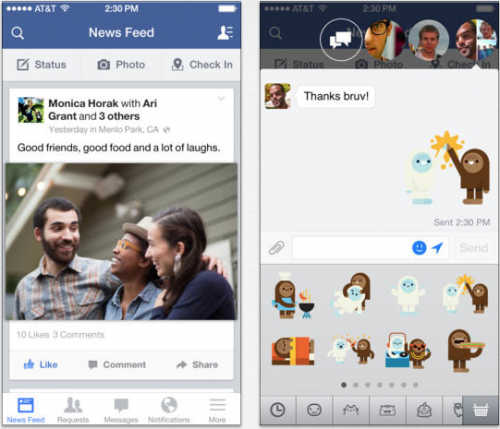 Facebook neu iOS 7