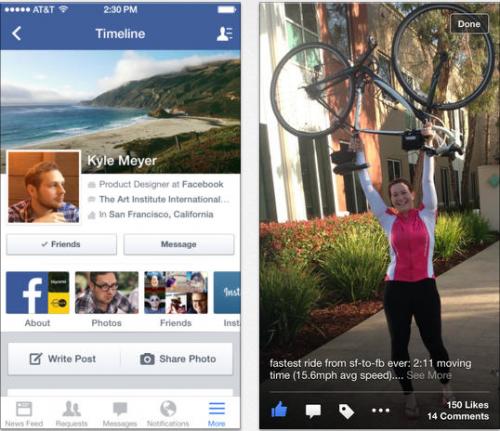 Facebook neu iOS 7 Ansicht 2
