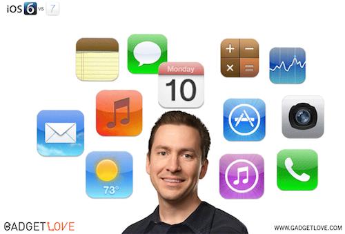 Forstall iOS 6 vs. iOS 7 gadgetlove.com