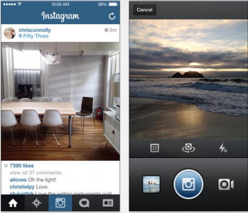 Instagram Ansicht iOS 7
