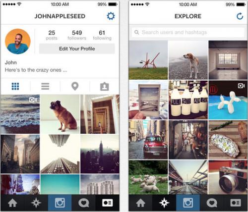 Instagram iOS 7